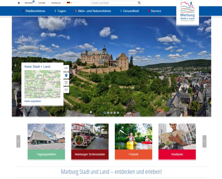 Homepage Marburg Stadt und Land Tourismus GmbH©Marburg Stadt und Land Tourismus