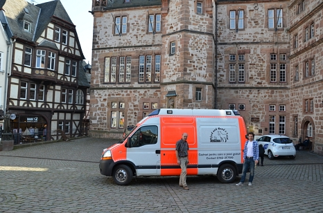 Hunde-OP Einsatzwagen für rumänische Partnerstadt Sibiu/Hermannstadt©Universitätsstadt Marburg
