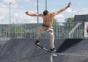 Im Skatepark im Georg-Gaßmann-Stadion begeisterten die Skateboard-Artisten mit spektakulären Tricks.