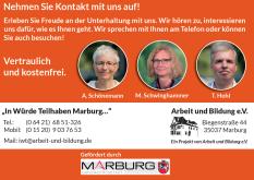 In Würde teilhaben - Kontaktdaten©Universitätsstadt Marburg