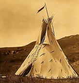 Indianerzelt©Unbekannt. Foto von 1908.