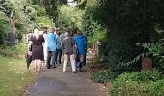 Interessierte Bürgerinnen und Bürger beim Info-Rundgang über den Hauptfriedhof