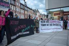 Abtreibung und die Abschaffung des Paragrafen 219a waren eines der zentralen Themen beim diesjährigen Weltfrauentag in Marburg.©Melanie Weiershäuer i. A. der Stadt Marburg