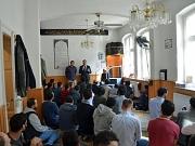 Oberbürgermeister Dr. Thomas Spies (Mitte) freute sich über die Einladung der Islamischen Gemeinde zu den Internationalen Wochen gegen Rassismus.