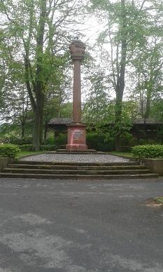 Jäger-Denkmal im Schülerpark frontal Hochformat©Universitätsstadt Marburg
