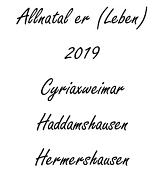 Jahresplaner Allnatal 2019