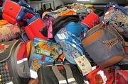Jede Menge Ranzen, Rucksäcke und Taschen kamen bei den Sammelaktionen der vergangenen Jahre zusammen.