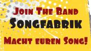 Join the Band - Songfabrik - Macht Euren Song auf gelbem Hintergrund