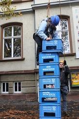 Bei den zahlreichen Mitmachangeboten, wie beim Klettern im Freien, war für jeden etwas dabei - Juföläum der Jugendförderung Oktober 2015©Universitätsstadt Marburg