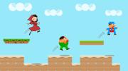 Eine Szene aus einem JumpAndRun-Computerspiel, vermutlich frei erfunden.