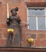 Justitia am Marburger Rathaus
