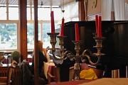 Kerzenständer im Cafe Vetter