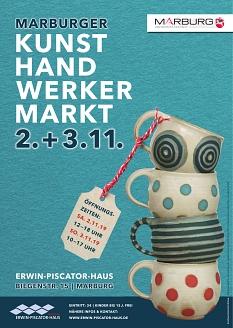Plakat Kunsthandwerkermarkt 2019©Universitätsstadt Marburg