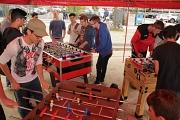 """Unter dem Motto """"Kick and Cake"""" fand heute wieder das große Open-Air-Tischfußball-Turnier für Jugendliche auf dem Elisabeth-Blochmann-Platz statt."""