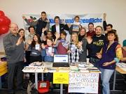 Gruppenfoto mit Teilnehmerinnen und Teilnehmern eines Workshops mit Jugendlichen und Teamern.