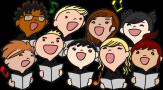 Clipart: 9 singende Kinder©gustavorezende via openclipart.org
