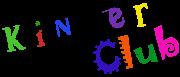 """Das Logo des Kinderclubs: Der Schriftzug """"Kinderclub"""" in verfremdeter Schrifttype."""