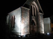 Kirche beleuchtet