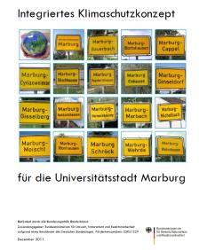 Das Cover des Klimaschutzkonzepts der Universitätsstadt Marburg©Universitätsstadt Marburg