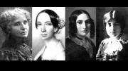 Die Komponistinnen Mel Bonis, Emilie Mayer, Fanny Hensel und Lili Boulanger