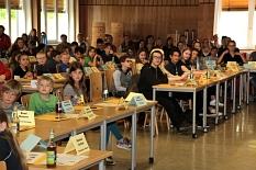 In der Aula der Kaufmännischen Schulen kam das elfte Kinder- und Jugendparlament der Universitätsstadt Marburg zu seiner konstituierenden Sitzung zusammen.©Universitätsstadt Marburg