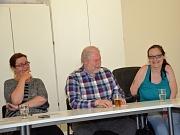 Stadt und Behindertenbeirat arbeiten für Barrierefreiheit zusammen. Links Stadträtin Dr. Kerstin Weinbach bei der konstituierenden Sitzung des Beirats. Franz-Josef Visse (Mitte) wurde zum Vorsitzenden gewählt,  Stefanie Ingiulla zur Stellvertreterin.