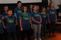 Unter anderem mit Gesang und Tanz demonstrierten die Schülerinnen und Schüler, dass die Richtsberg-Gesamtschule zu Recht KulturSchule ist.©Heiko Krause, Stadt Marburg