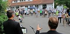 Kundgebung in Gisselberg©Gian Franco Fain