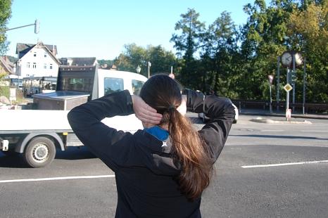 Lärm an der Straße - wie hier am Rudolphsplatz, Marburg©Universitätsstadt Marburg Fachdienst Umwelt, Fairer Handel, Abfallwirtschaft J. Friedrich