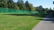 Lahnvorland Bolzplatz mit neuen grünen Ballfangnetzen