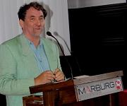 Leuchtfeuer_Preisträger Diefenbach-Trommer: Der Preisträger Stefan Diefenbach-Trommer erinnerte in seiner Dankesrede an die vielen Menschen, die sich weltweit für Freiheit und Gerechtigkeit einsetzen.