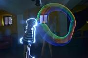 """Beeindruckende Lichtkunstwerke können die Teilnehmenden beim Projekt """"Light*Art"""" selbst erschaffen."""