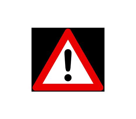 Verkehrszeichenschild Achtung©Universitätsstadt Marburg