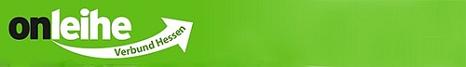 Logo des OnleiheverbundHessen mit text onleihe Verbund Hessen auf grünem Hintergrund©OnleiheverbundHessen