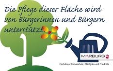 Logo zur Kennzeichnung der ehrenamtlichen Pflegeunterstützung durch Bürgerinnen und Bürger©Universitätsstadt Marburg