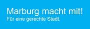Logo zur europäischen Gleichstellungs-Charta mit dem Text: Marburg macht mit! Für eine gerechte Stadt