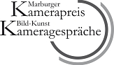 Das Logo zeigt die Schriftzüge Marburger Kamerapreis und Bild-Kunst-Kameragespräche sowie konzentrische Ringe.©Marburger Kamerapreis