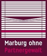 Logo Marburg ohne Partnergewalt, zweizeilige Schrift©Universitätsstadt Marburg