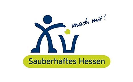 """Das Bild zeigt das offizielle Logo der Umweltkampagne """"Sauberhaftes Hessen""""©DBM"""