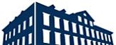 Das dunkelblaue Logo der Stadtbücherei bestehend aus der gezeichneten Frontansicht des Hauses sowie dem Schriftzug Stadtbücherei Marburg.©Universitätsstadt Marburg