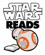 Logo des Star Wars Reads Day mit einem lesenden Kugelroboter