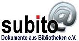 Logo Subito Dokumente aus Bibliotheken e.V.©subito. Dokumente aus Bibliotheken e.V.