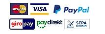 MasterCard, VISA, Paypal, giropay, paydirekt, SEPA Lastschrift©Universitätsstadt Marburg
