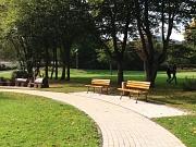 Ludwig-Schüler-Park, Sitzbankplatz im Herbst