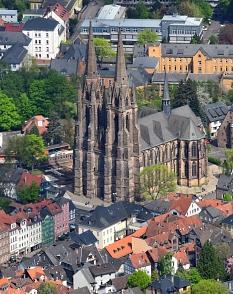 Luftaufnahme von der Elisabethkirche©Georg Kronenberg