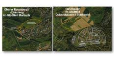Luftbilder Oberer Rotenberg im Stadtteil Marbach und Hasenkopf im Stadtteil Ockershausen in der Universitätsstadt Marburg©Universitätsstadt Marburg