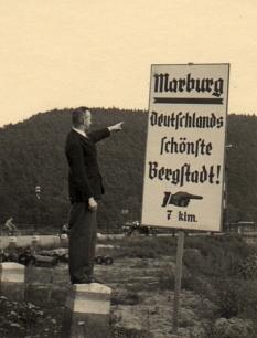 """In früheren Jahren warb Marburg mit dem Attribut """"schönste Bergstadt"""".©FD 10.4"""
