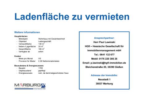 Marburger FreiRAUM: Kontaktblatt Neustadt 1©Stadtmarketing Marburg e. V.