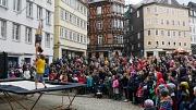 Marburger Frühling 2019: Akrobatik-Show auf dem Marktplatz