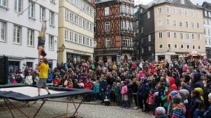 Marburger Frühling 2019: Akrobatik-Show auf dem Marktplatz©Stadtmarketing Marburg e. V.